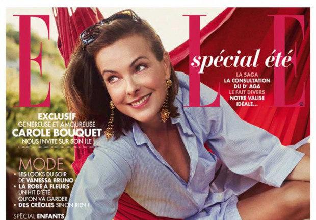 Carole Bouquet en couverture de ELLE